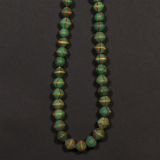 Necklace with Old Green King Trade Beads