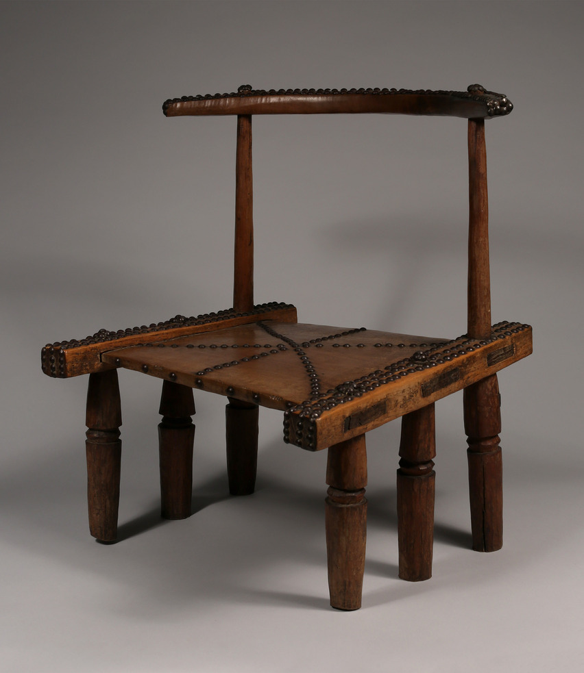 Elaborately Decorated Low Chair with Six Legs, Dan Tribe, Liberia/Ivory Coast