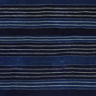 Stripwoven Indigo-Dyed Cloth