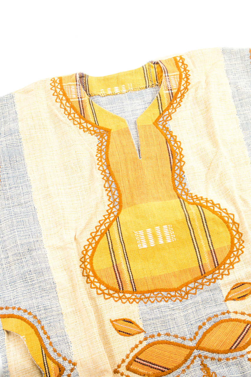 Handwoven Embroidered African Dress