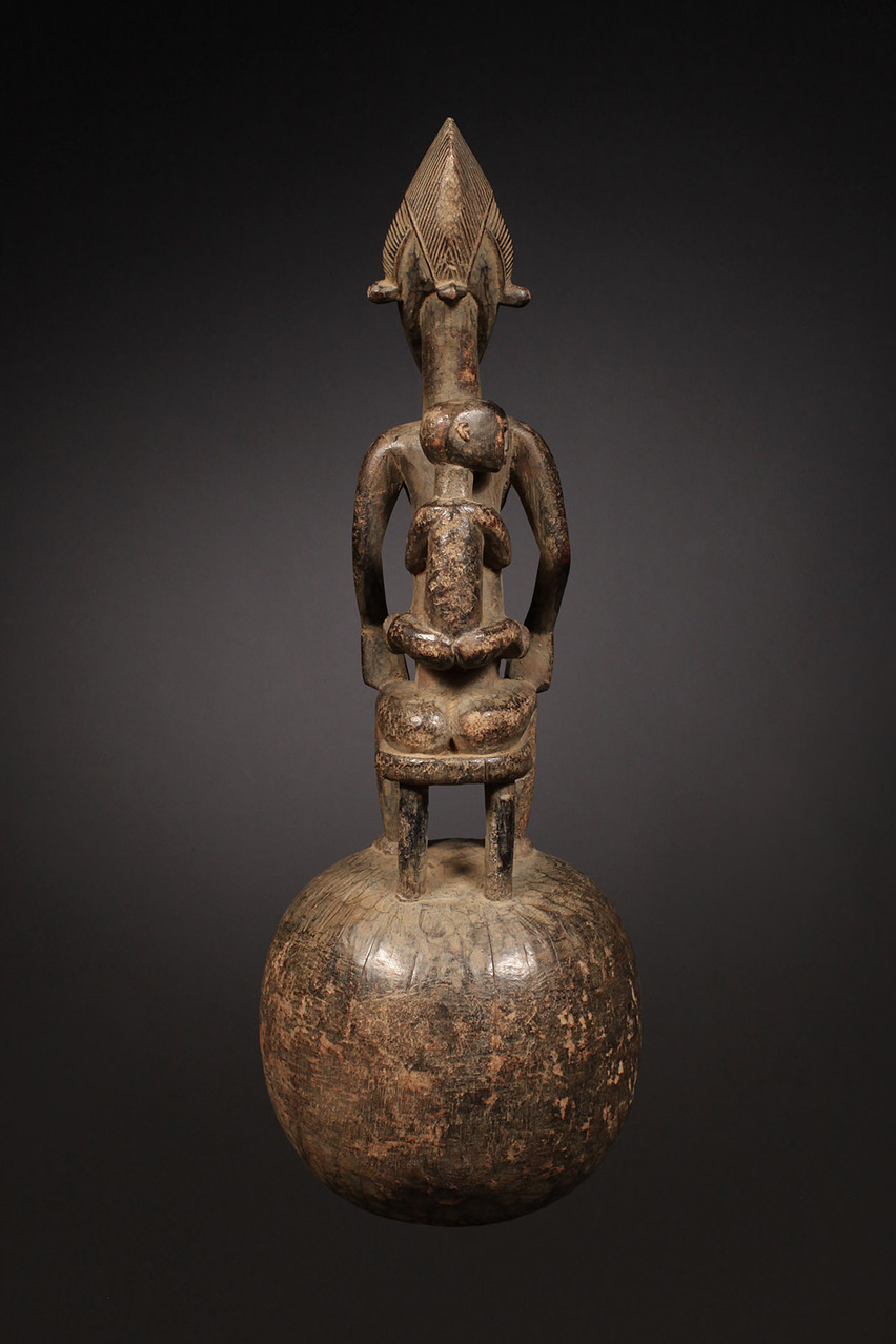 Ceremonial Spoon with Maternity Figure, Senufo Tribe, Ivory Coast
