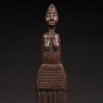 Luba Comb with Female Figure