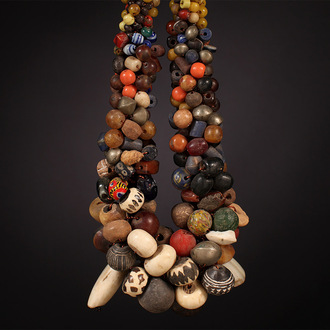 African Tribal Necklace with Mixed Trade Beads