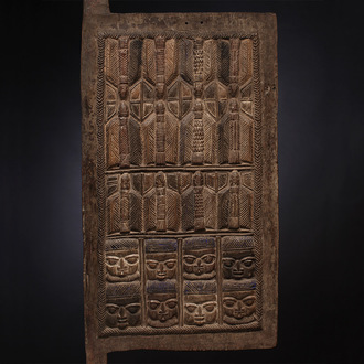 Elaborately Carved Palace Door